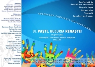 De Paste, bucuria renaste!- eveniment caritabil motivational