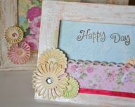 Atelier de scrapbooking si rame shabby chic.